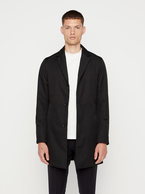 Mens Wolger Tech Coat Black