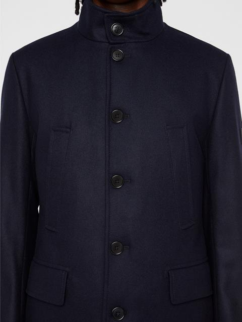 Mens Kali Compact Melton Coat JL Navy