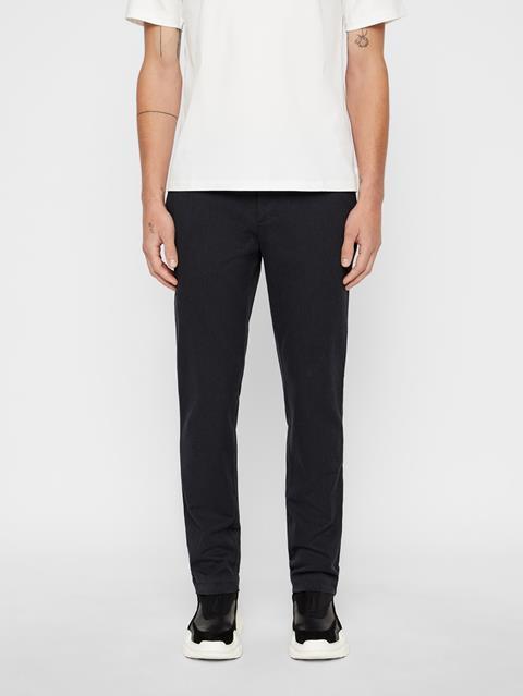 Mens Chaze Flannel Twill Pants Dark Grey Melange