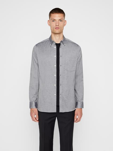Mens Daniel Oxford Shirt Dark Grey