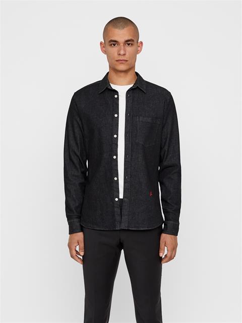 Mens Daniel Denim Shirt Black