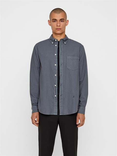 Mens David Oxford Shirt Dark Grey