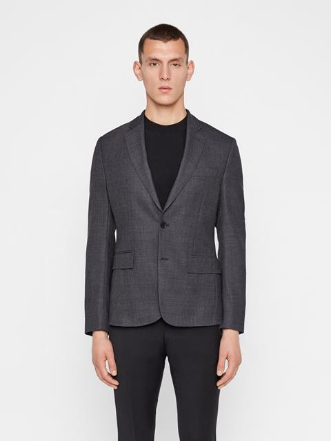 Mens Hopper Soft Combat Blazer Dark Grey Melange