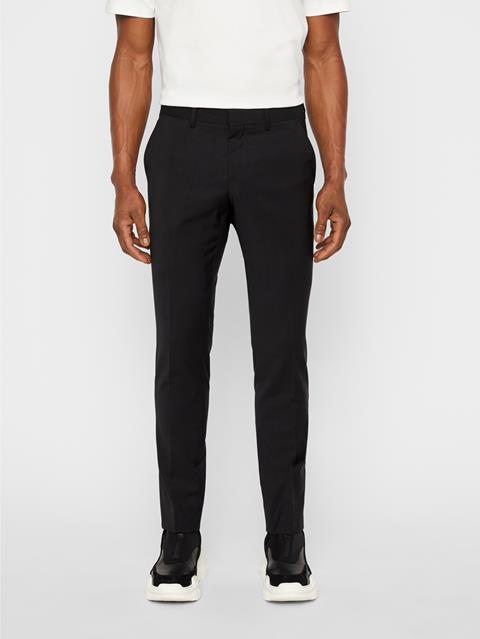 Mens Dropper Comfort Wool Pants Black