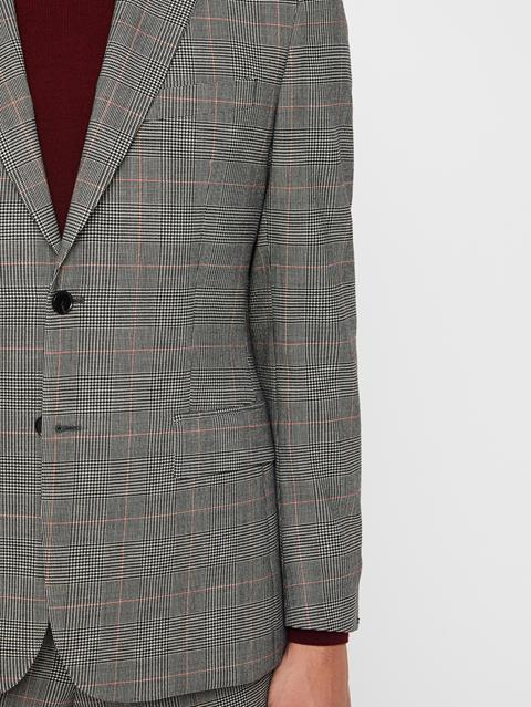 Mens Donnie Checkered Blazer Racing Red