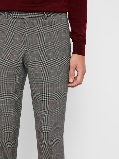 Mens Grant Checkered Pants Racing Red