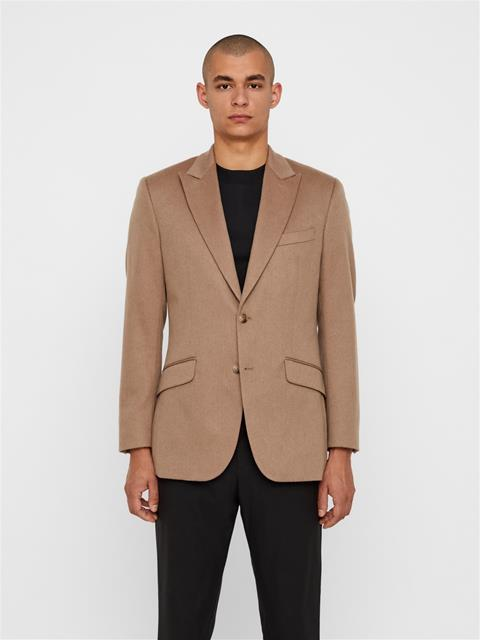 Mens Bob Camel Wool Blazer Oxford Tan