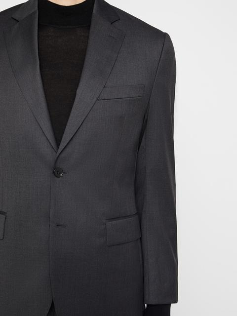 Mens Donnie Legend Wool Blazer Dark Grey Melange