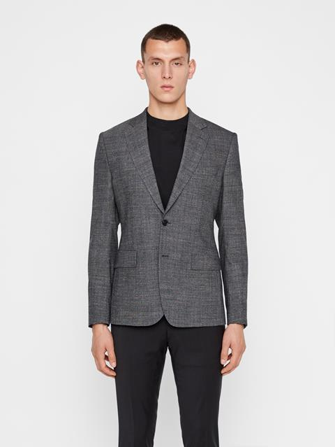 Mens Donnie 2-tone Textured Blazer Black