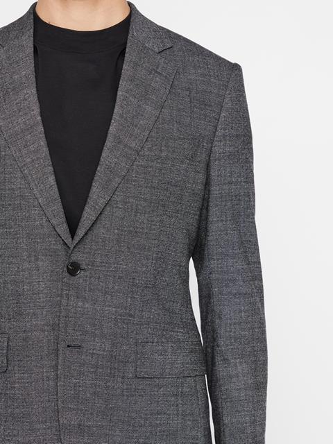 Mens Donnie 2-tone Textured Blazer Black