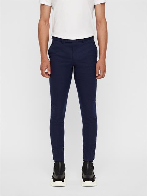 Mens Grant 2-tone Textured Pants JL Navy
