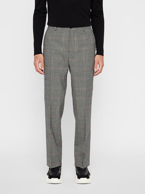 Mens Dropper Checkered Pants Racing Red