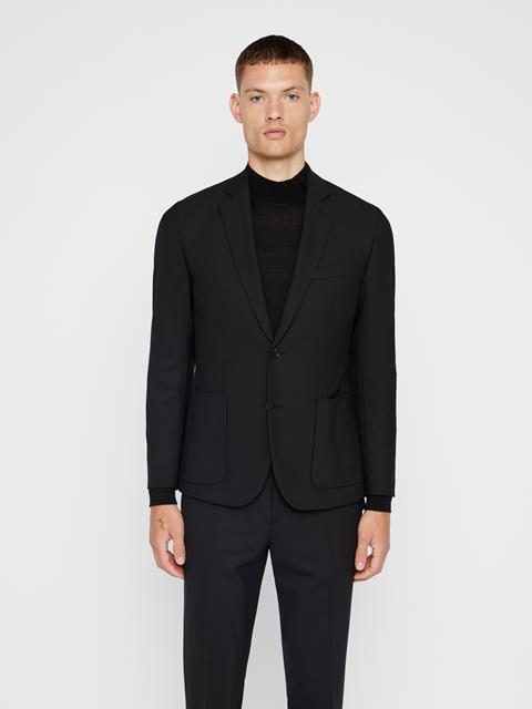 Mens Hopper Stretch Wool Blazer Black