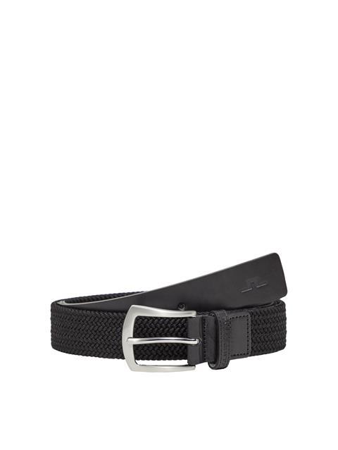 Mens Caspian Braided Elastic Belt Black