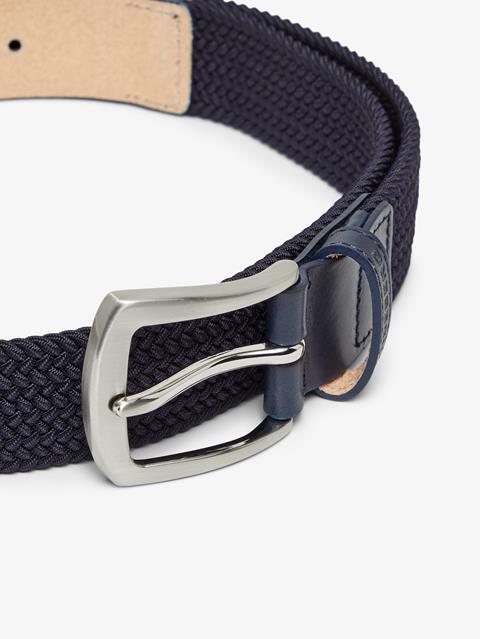 Mens Caspian Braided Elastic Belt JL Navy