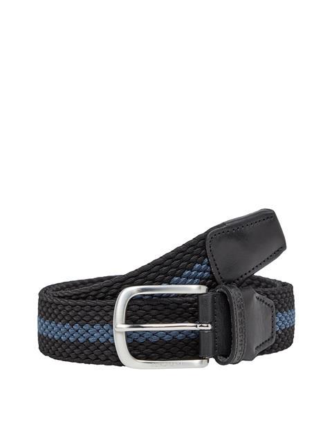 Mens Hades Striped Elastic Belt Black