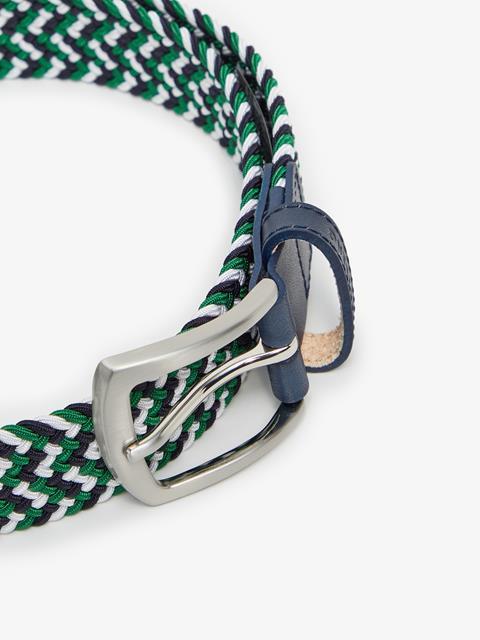 Mens Hatcher Elastic Belt White