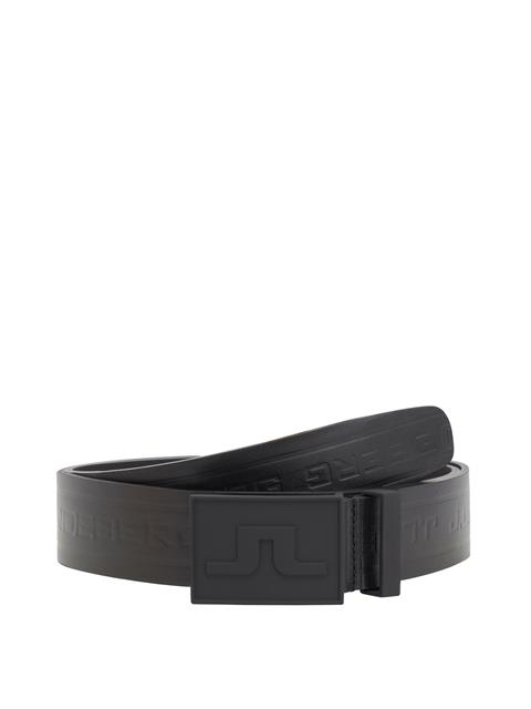 Mens Logo Pro Leather Belt Black