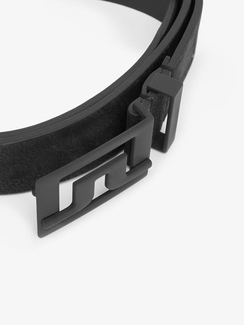 Mens Slater 40 Brushed Leather Belt Black