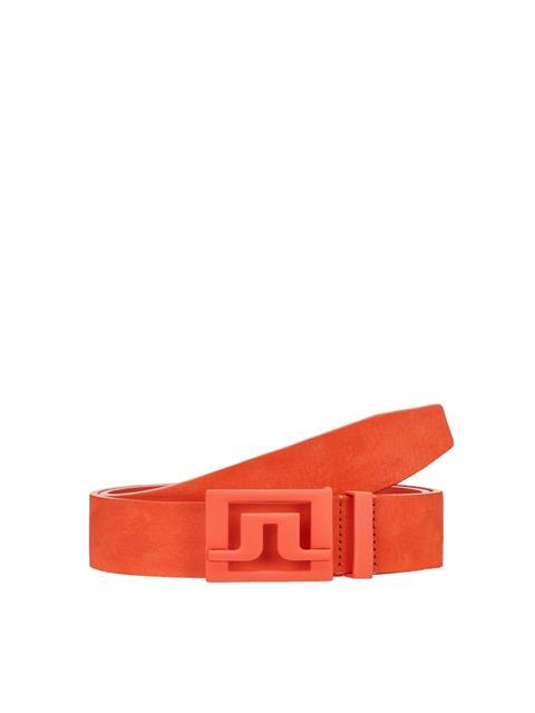 Mens Slater 40 Brushed Leather Belt Juicy Orange
