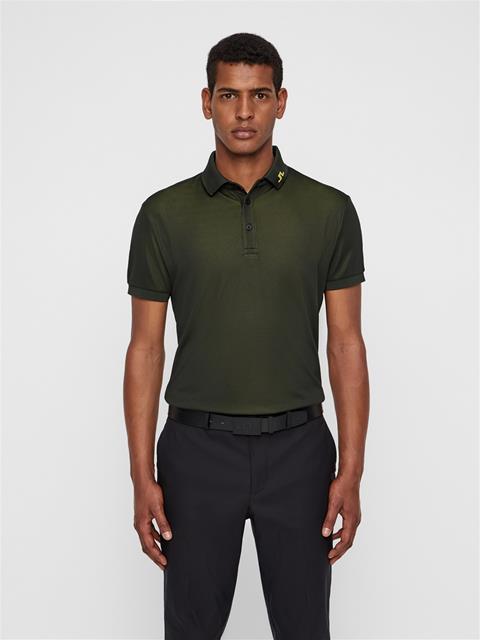 Mens Lux KV TX Jacquard Polo Black
