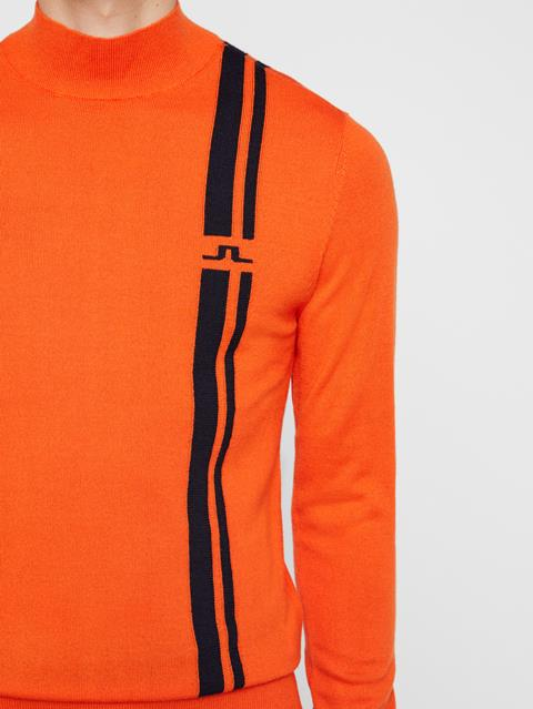Mens Atlas Wool Coolmax Sweater Juicy Orange
