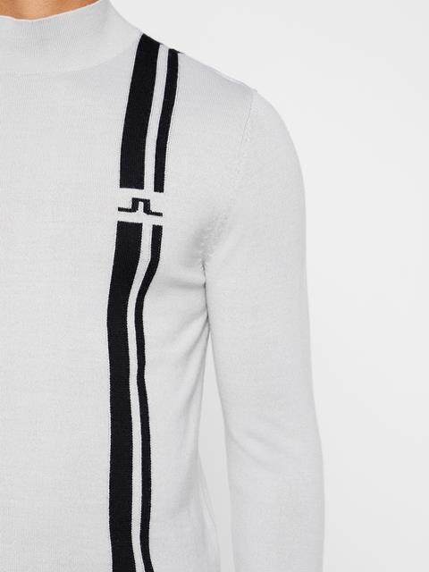 Mens Atlas Wool Coolmax Sweater Stone Grey
