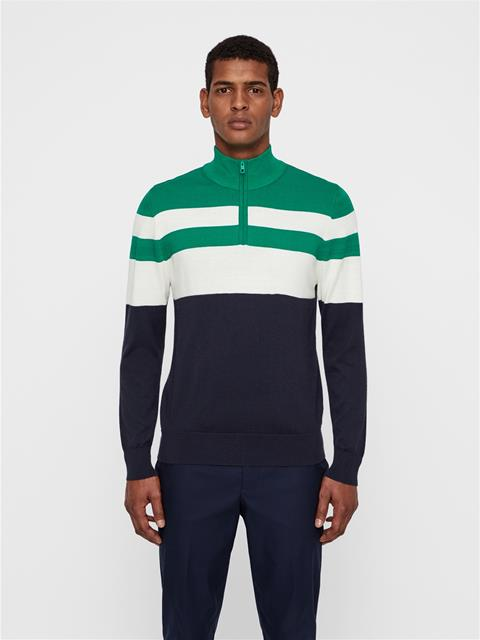 Mens Henry Wool Coolmax Sweater Golf Green