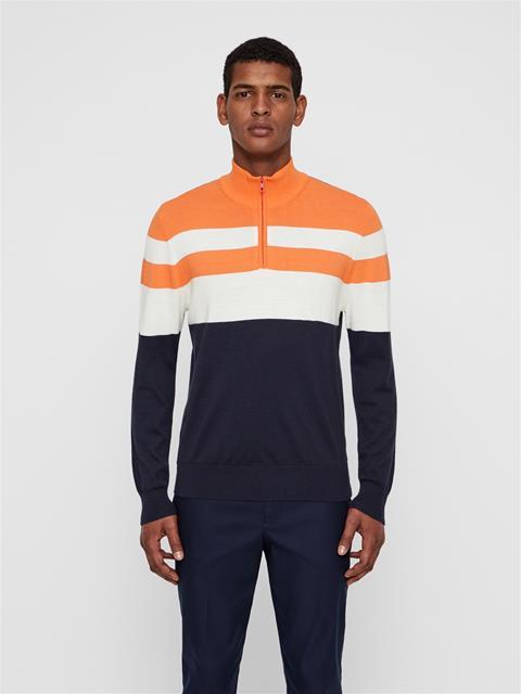 Mens Henry Wool Coolmax Sweater JL Navy