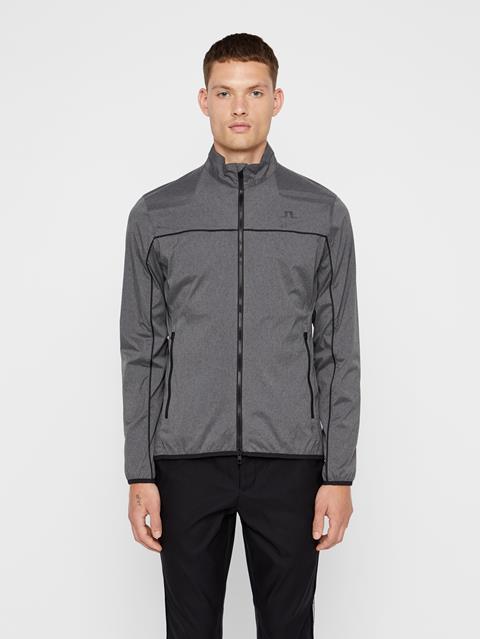Mens Liam Piped Wind Pro Jacket Dark Grey Melange
