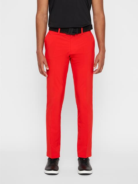Mens Ellott Slim Micro Stretch Pants Racing Red