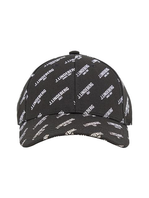 Mens Flexi Twill Printed Cap Black