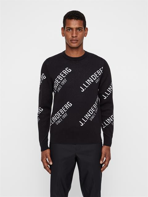 Mens Alya Cotton Coolmax Sweater Black