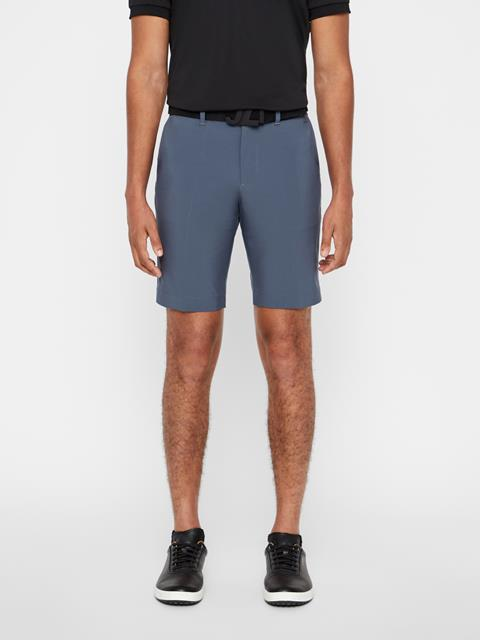 Mens Eloy Tapered Micro Stretch Shorts Dark Grey