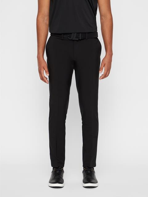Mens Ellott Slim Fit Bonded Pants Black