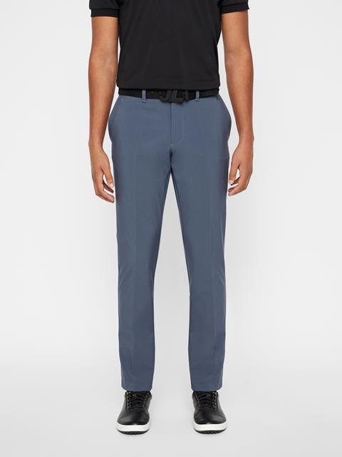 Mens Ellott Slim Fit Bonded Pants Dark Grey
