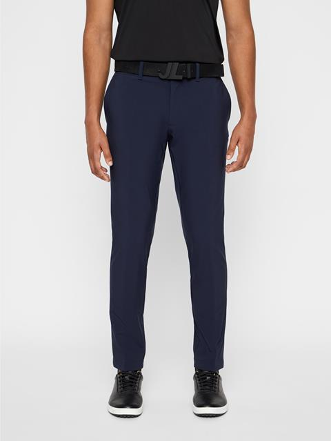 Mens Ellott Slim Fit Bonded Pants JL Navy