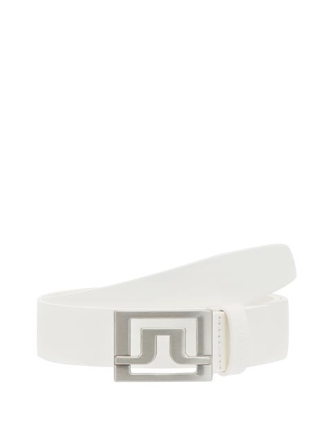 Womens Valerie White Leather Belt White