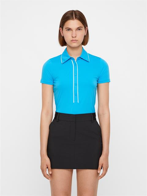 Womens Flor Ultra Light Jersey Polo Fancy