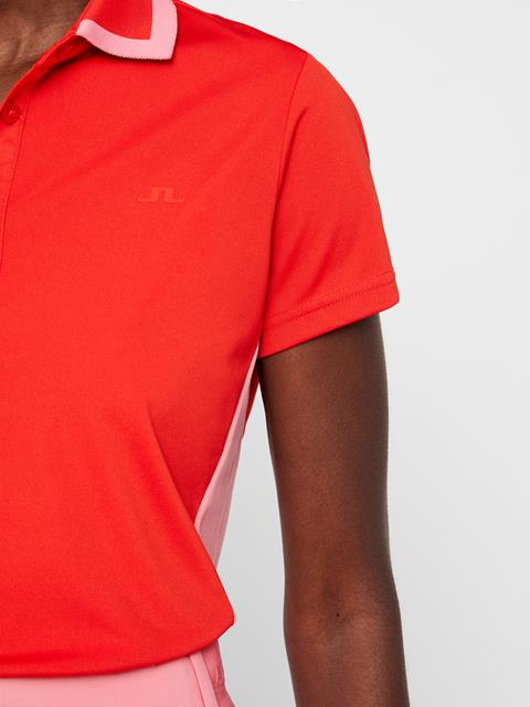 Womens Poppy TX Jersey Polo Racing Red