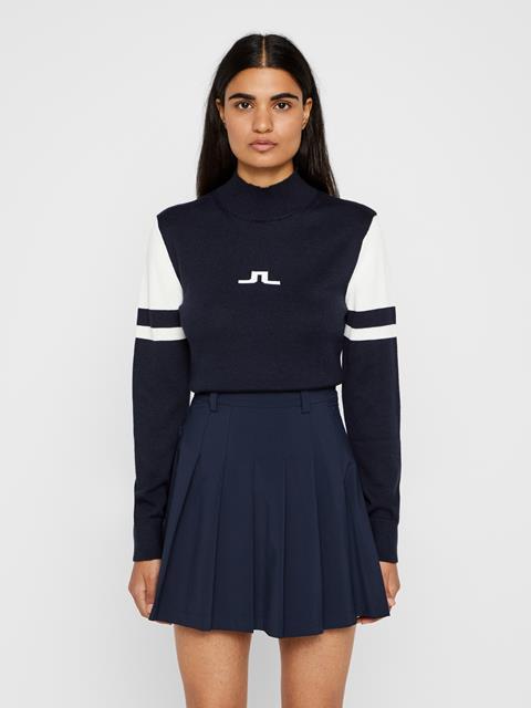 Womens Leighton Wool Coolmax Sweater JL Navy