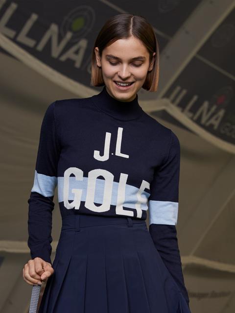 Womens Karen Wool Coolmax Sweater JL Navy