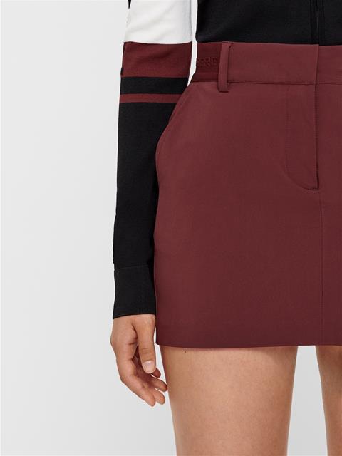 Womens Gabriela Micro Stretch Skirt Dark Mocca