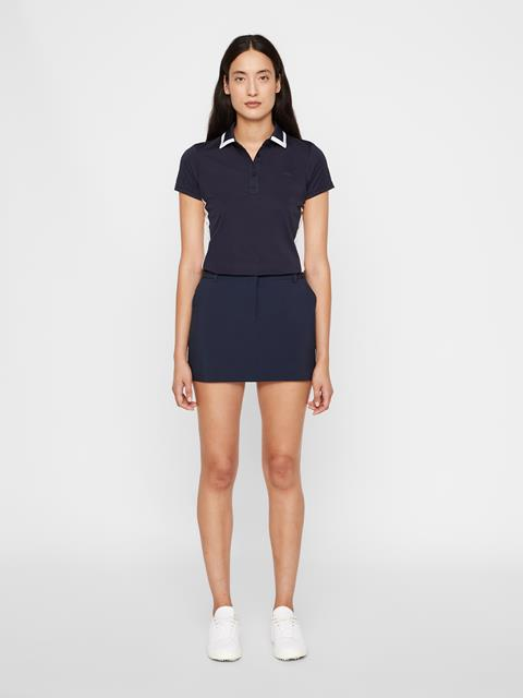 Womens Gabriela Micro Stretch Skirt JL Navy