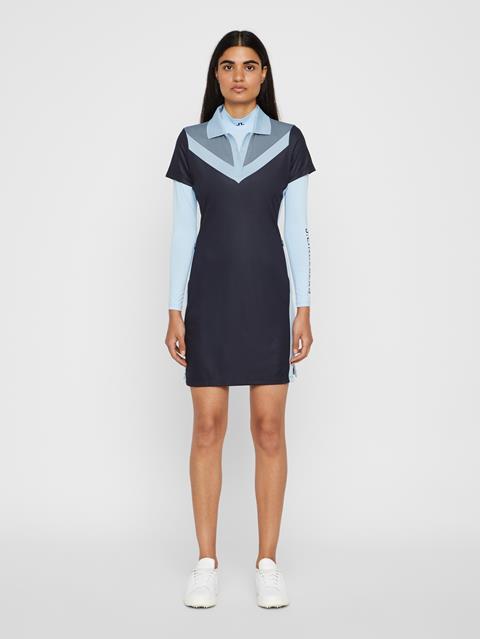 Womens Lana TX Jacquard Dress JL Navy