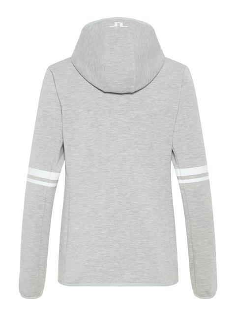 Womens Logo Tech Sweat Hoodie Stone Grey Melange