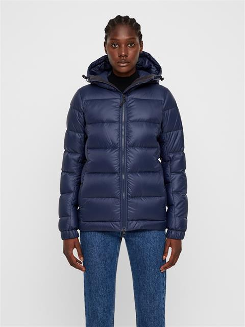 Womens Rose Pertex Down Jacket JL Navy