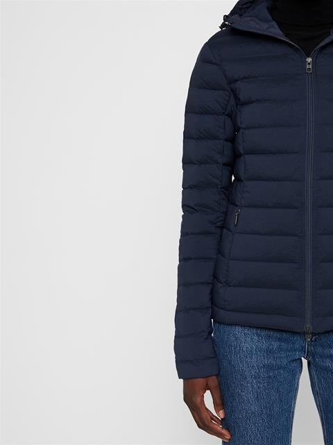 Womens Ease Hooded Down Liner JL Navy