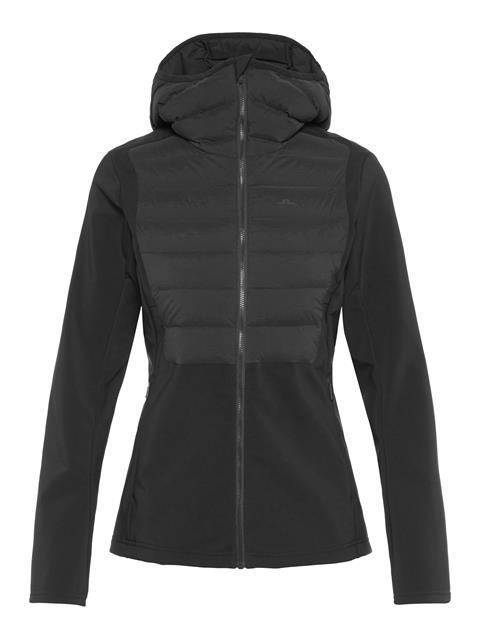 Womens Vertex Hybrid Down Hooded Jacket Black