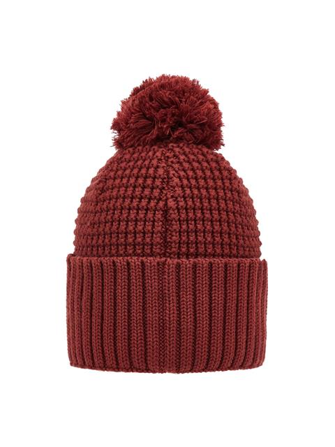 Mens Ball Wool Hat Dark Mocca